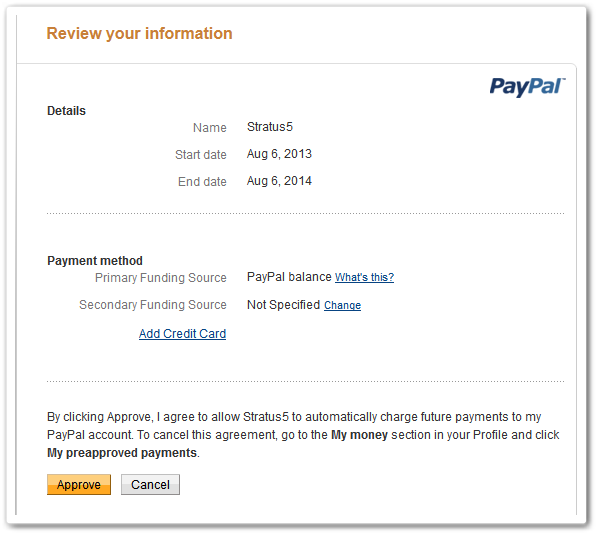 PayPal review details